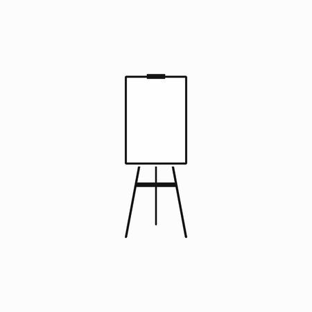 Blank flip chart icône dans un style simple sur un fond blanc Illustration