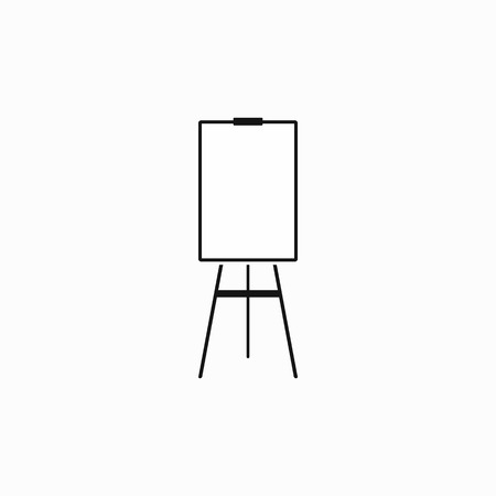 Blank flip chart icon in simple style on a white background