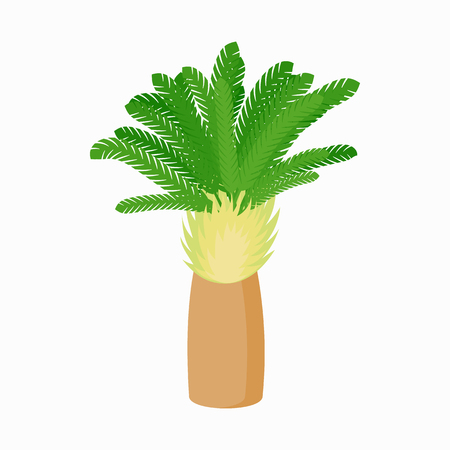 date palm: Single date palm icon in cartoon style on white background