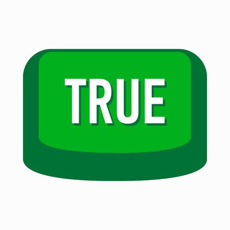 validity: Es cierto bot�n con el icono verde de forma sencilla sobre un fondo blanco Vectores