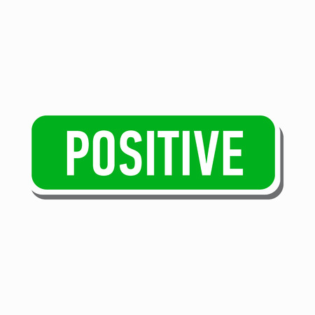 truthful: Positive green button icon in simple style on a white background Illustration