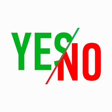yes or no: Yes or No icon in simple style on a white background