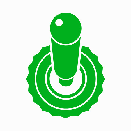 toggle switch: Green toggle switch button in the agree position icon in simple style on a white background Illustration