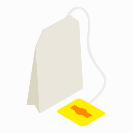 teabag: Teabag icon in isometric 3d style on a white background
