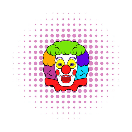 frizzy: Clown icon in comics style isolated on white background