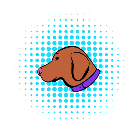 hunting dog: Hunting dog icon in comics style on a white background
