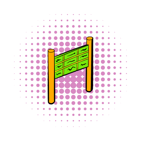 train table: Departure timetable at the airport icon in comics style on a white background Illustration