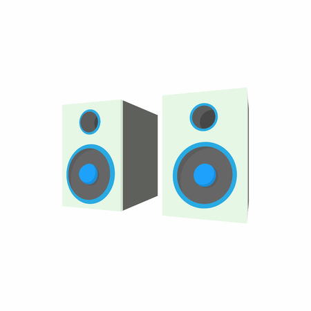 two party system: Speakers icon in cartoon style on a white background Illustration