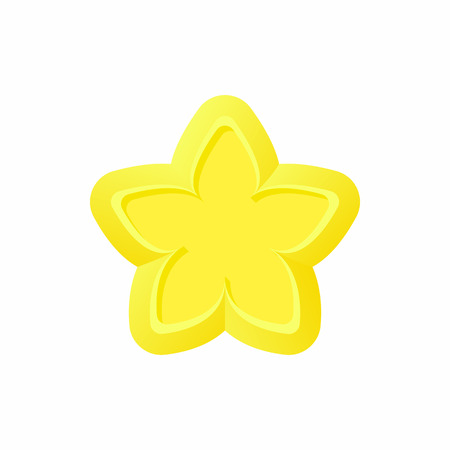 Gold Star Icon In Cartoon Style On A White Background Royalty Free