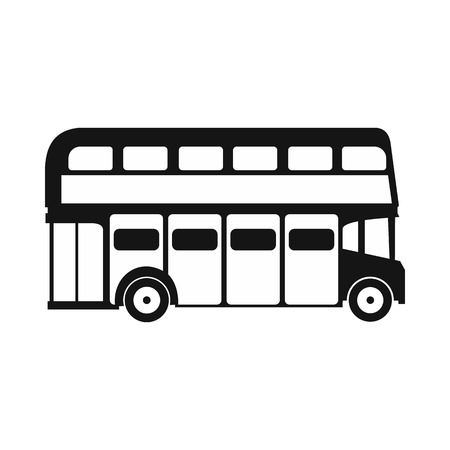 double decker bus: London double decker bus icon in simple style on a white background Illustration