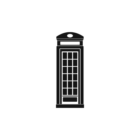 call history: British phone booth icon in simple style on a white background Illustration