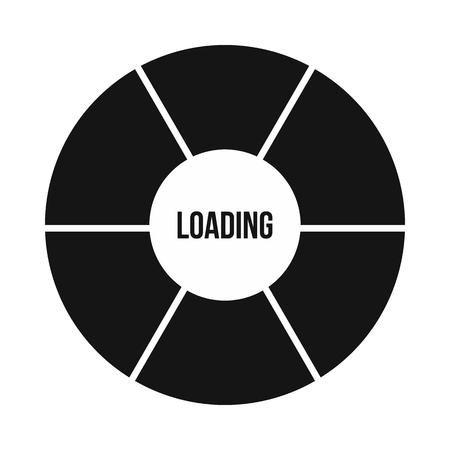 Kreis Ladesymbol Im Einfachen Stil Auf Einem Weißen Hintergrund ...