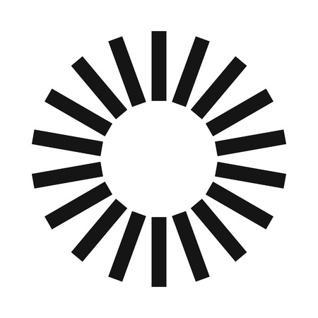 Loading circle sign icon in simple style on a white background Illustration