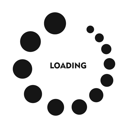 Loading icon in simple style on a white background Illustration