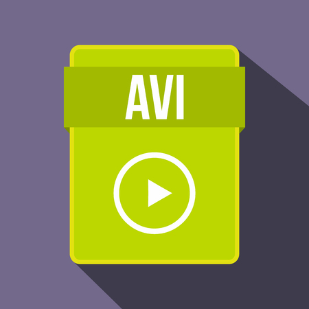 avi: AVI file icon in flat style on a violet background