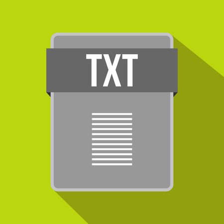txt: TXT file icon in flat style on a green background