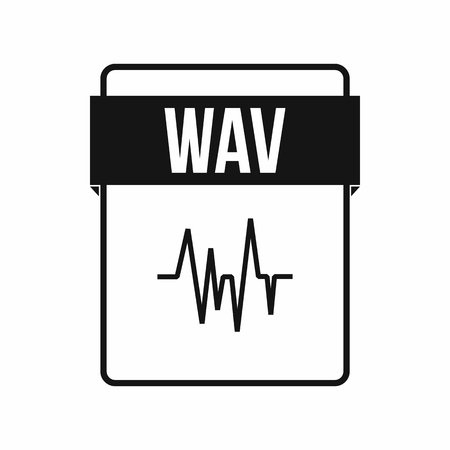 wav: WAV file icon in simple style on a white background