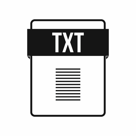 txt: TXT file icon in simple style on a white background