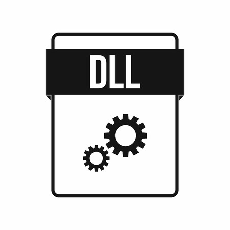 DLL file icon in simple style on a white background