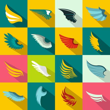 임의의 디자인을 위해 평면 스타일로 설정된 날개 아이콘