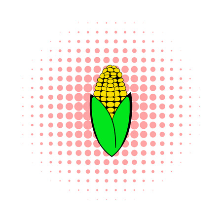 corncob: Corncob icon in comics style on a white background Illustration
