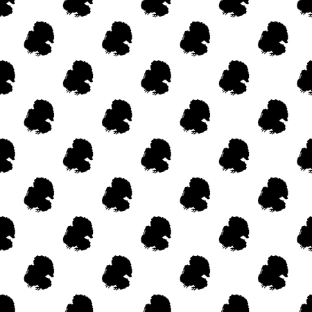poult: Turkey pattern seamless black for any design