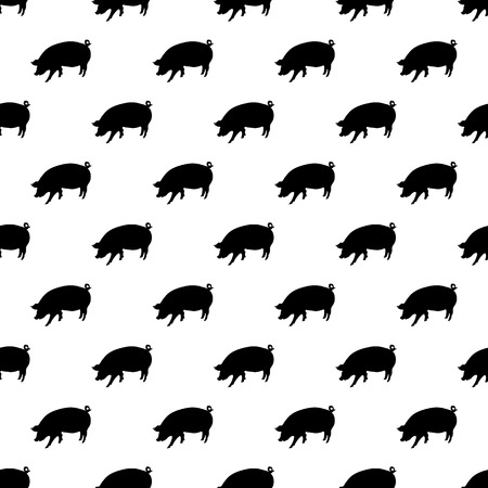husbandry: Pig pattern seamless black for any design