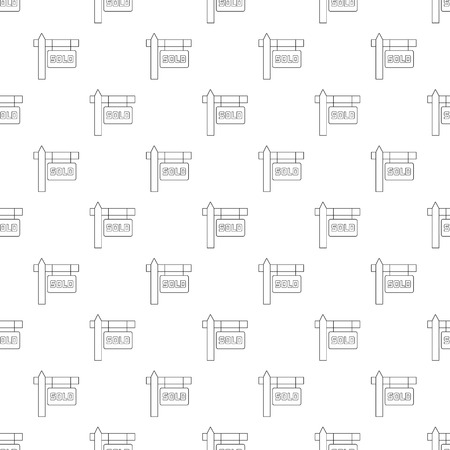 immovable property: Sold pattern seamless black for any design