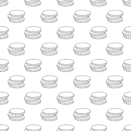 rouleau: Coins pattern seamless black for any design