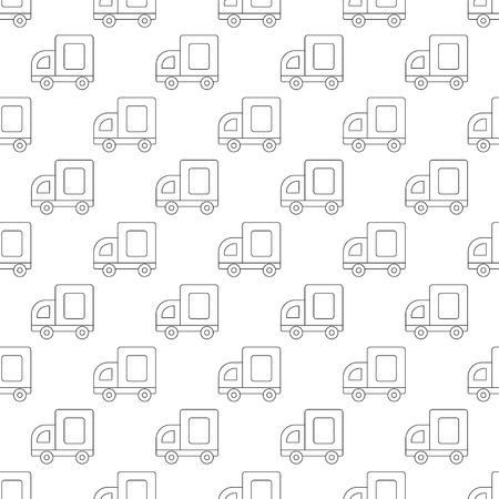medium: Medium truck pattern seamless black for any design