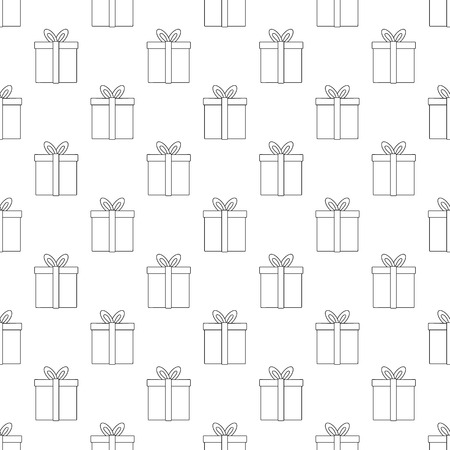 gift pattern: Gift pattern seamless black for any design