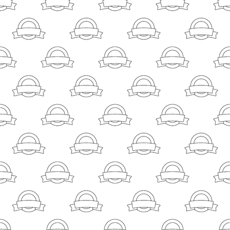 tagged: Label pattern seamless black for any design Illustration
