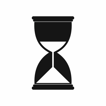 trickling: Hourglass icon in simple style on a white background Illustration