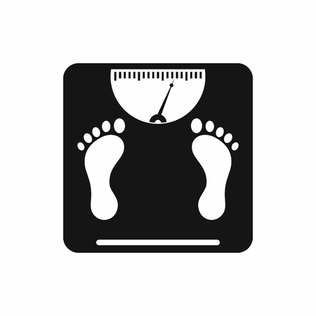 Weight scale icon in simple style on a white background Ilustração