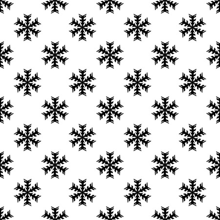 lightweight ornaments: Snowflake pattern seamless black for any design Illustration