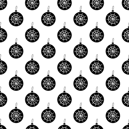 lightweight ornaments: Christmas ball pattern seamless black for any design