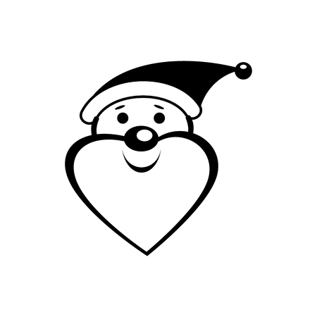 clause: Santa Clause icon in simple style isolated on white