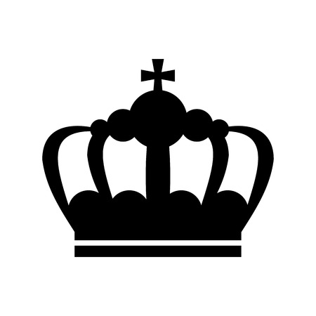 royal person: Crown icon in simple style isolated on white