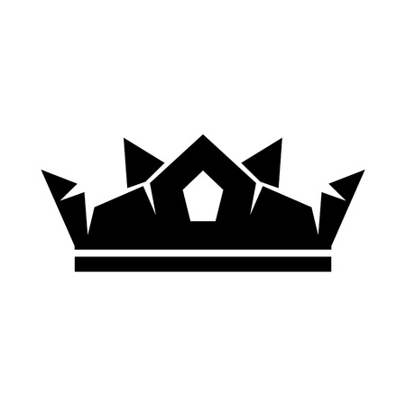 govern: Crown icon in simple style isolated on white