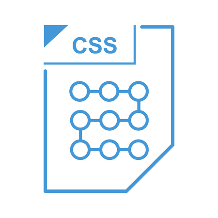 css: CSS file icon in cartoon style on a white background Illustration