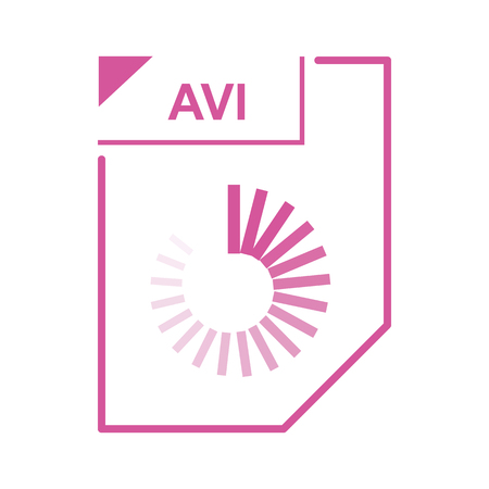 avi: AVI file icon in cartoon style on a white background