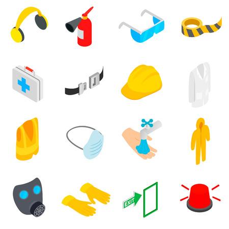 Sicherheits-Symbole in einer isometrischen 3D-Stil auf einem weißen Hintergrund Standard-Bild - 55956550