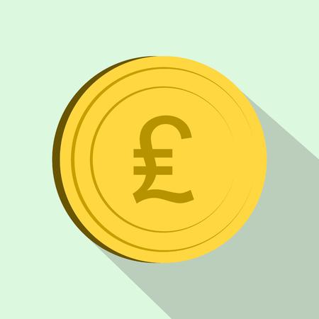 lira: Lira icon in flat style on light blue background