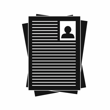 resumes: Resumes icon in simple style on a white background