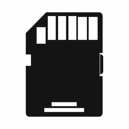 micro drive: SD memory card icon in simple style on a white background