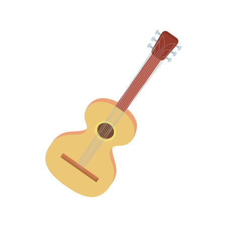 artisanry: Charango icon in cartoon style on a white background