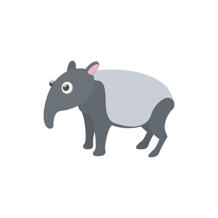 ruminant: Tapir icon in cartoon style on a white background Illustration