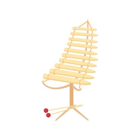 alto: Alto xylophone icon in cartoon style on a white background Illustration