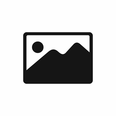 Snapshot icoon in eenvoudige stijl op een witte achtergrond. Landschap shot icon