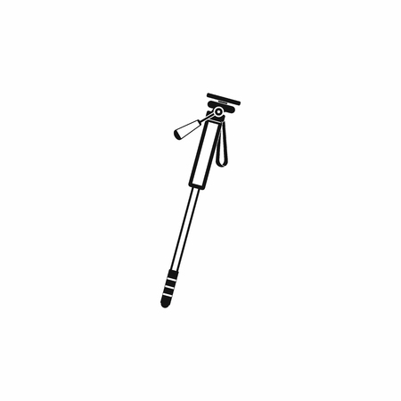 manual test equipment: Monopod icon in simple style isolated on white background Illustration